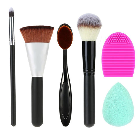 6 in 1 4pcs Makeup Brushes Kit
