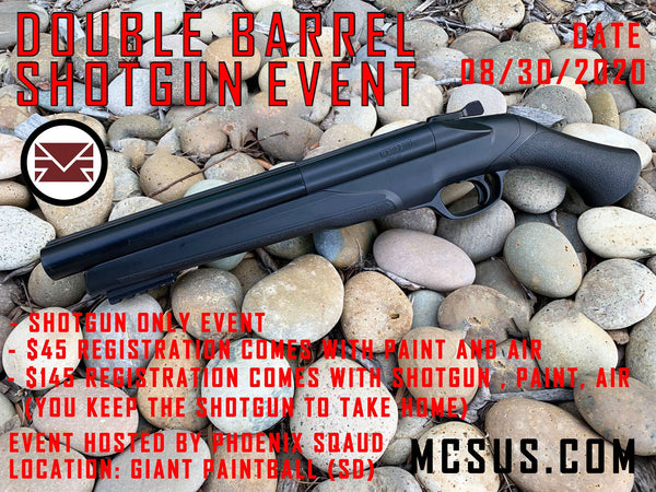 Double barrel shotgun event (August 30, 2020)