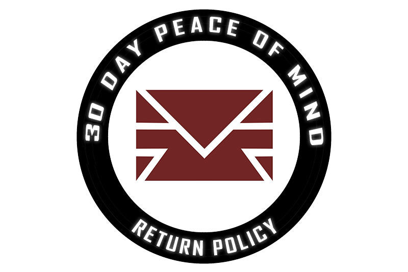 30 Day Peace of Mind Return