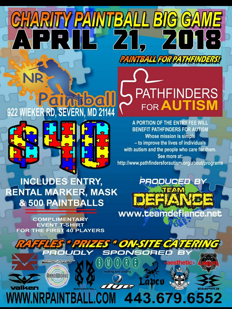 Charity Paintball Big Game: Paintball for Pathfinders (2018 April 21)