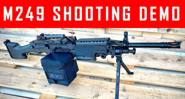 VIDEO: M249 Paintball Machine Gun shooting Demo