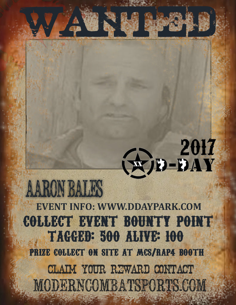DDAY 2017 Wanted: Aaron Bales (closed)
