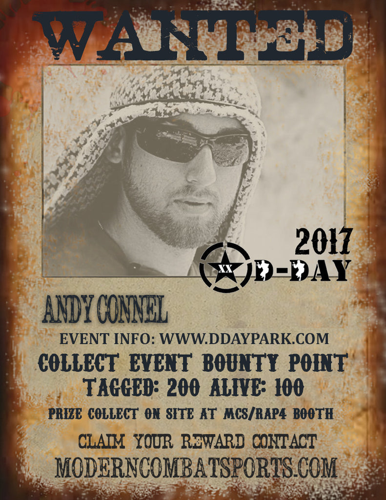 DDAY 2017 Wanted: Andy Connel (closed)