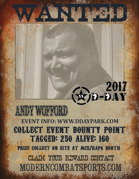 DDAY 2017 Wanted: Andy Wofford (closed)