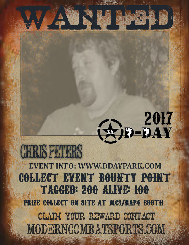 DDAY 2017Wanted: Chris Wooky Peters (closed)