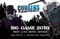 Cousins Big Game (2016 May 14 to 2016 May 16)