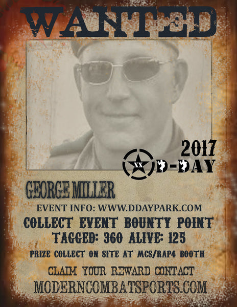 DDAY 2017 Wanted: George Snipes Miller (closed)