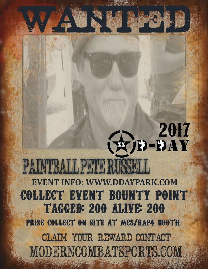 DDAY 2017 Wanted: Paintball Pete Russell (closed)