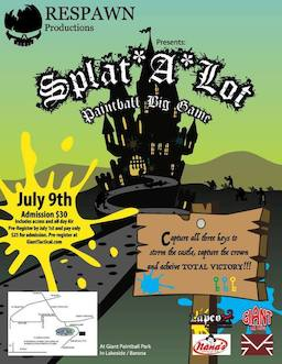 Splat - A - Lot (2016 July 09 to July 10)