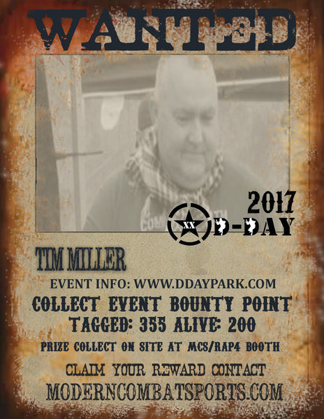 DDAY 2017 Wanted: Tim Miller (closed)