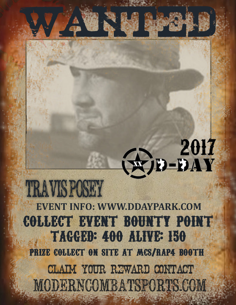 DDAY 2017Wanted: Travis Posey (closed)
