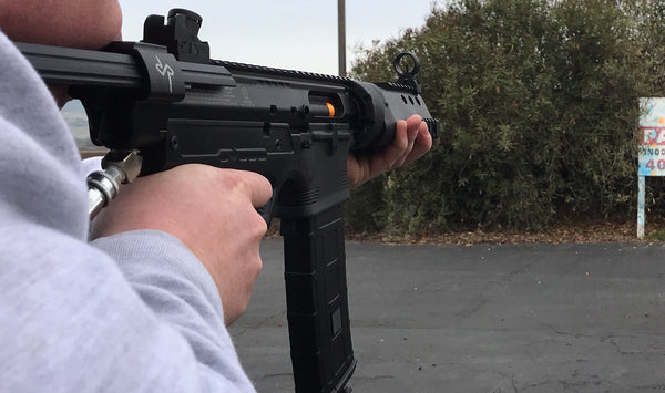 VIDEO:Daryl Inspired SMG MP5 Style Paintball Gun Shooting Demo