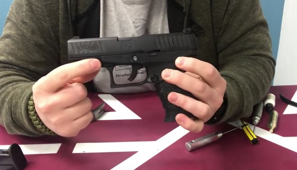 VIDEO:Walther PPQ Paintball Pistol Disassembly and Service