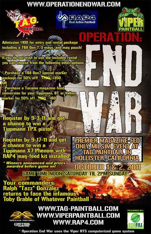 End War 2: Discover magazine-fed tactical paintball