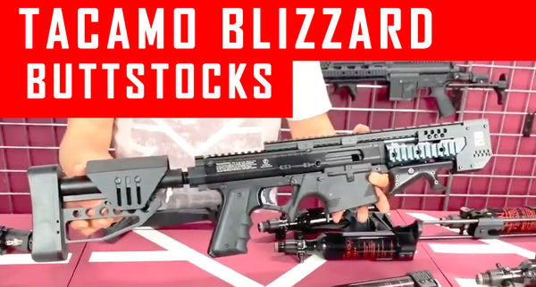 VIDEO: Tacamo Blizzard Paintball Gun Buttstock Options