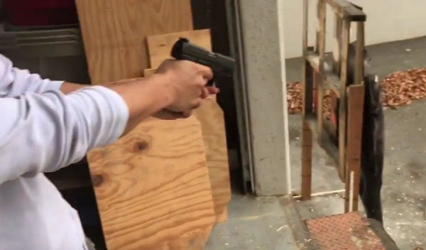 VIDEO:Walther PPQ Paintball Pistol Shooting Demo