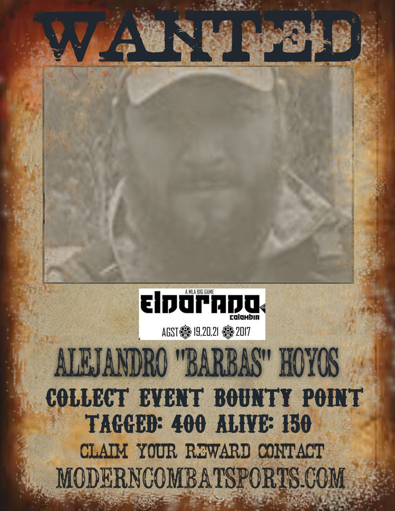 "Wanted: ALEJANDRO ""BARBAS"" HOYOS"