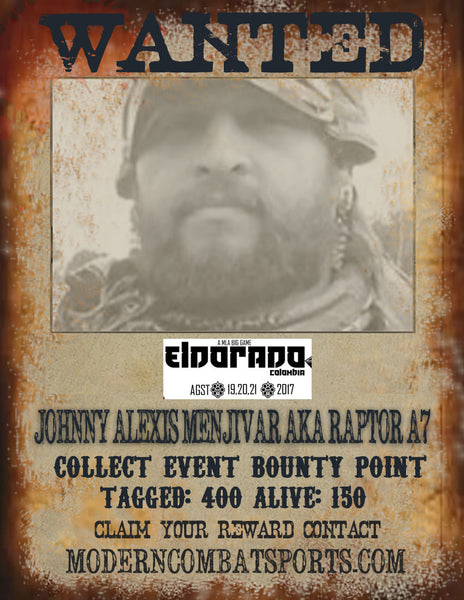 Wanted: JOHNNY ALEXIS MENJIVAR aka RAPTOR A7
