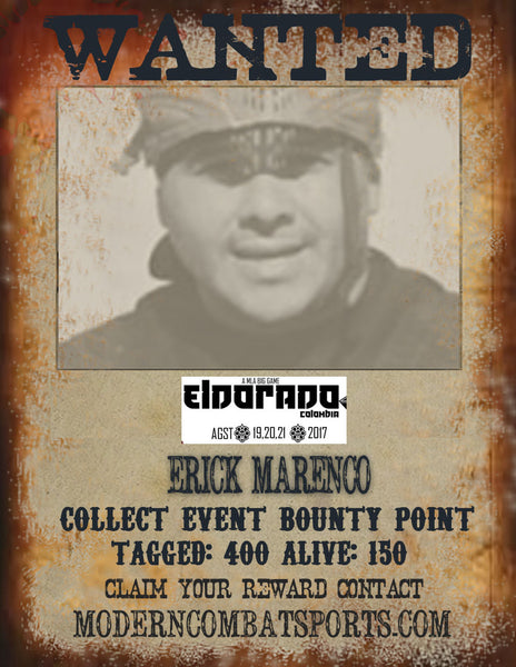 Wanted: ERICK  MARENCO