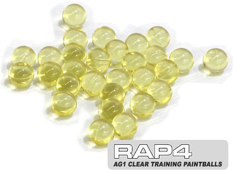 .43 Caliber Non-Lethal Clear Training Paintball - 800ct (Clear)