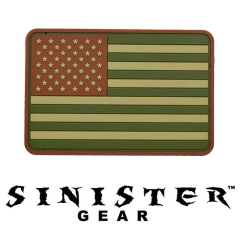 "Sinister Gear ""American Flag"" PVC Patch - Arid"