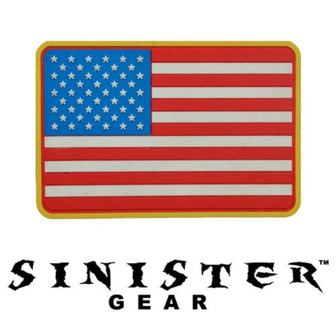 "Sinister Gear ""American Flag"" PVC Patch - Color"
