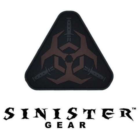 "Sinister Gear ""Biohazard"" PVC Patch - Dark"