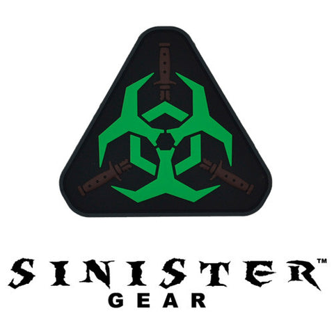"Sinister Gear ""Biohazard"" PVC Patch - Green"