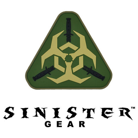 "Sinister Gear ""Biohazard"" PVC Patch - OD"