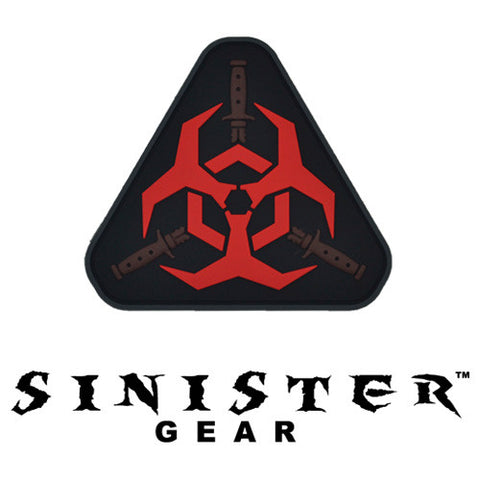 "Sinister Gear ""Biohazard"" PVC Patch - Red"