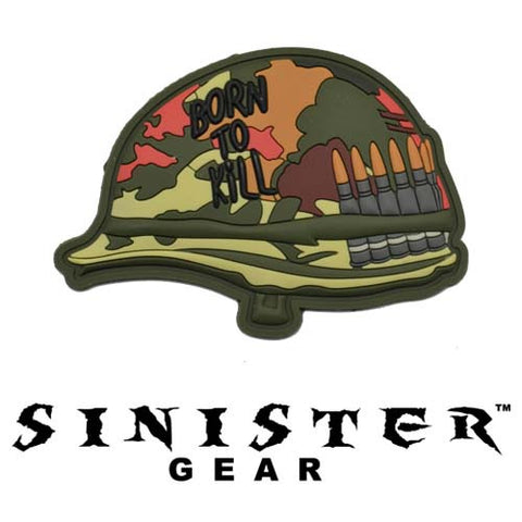 "Sinister Gear ""Born to Kill"" PVC Patch - Color"
