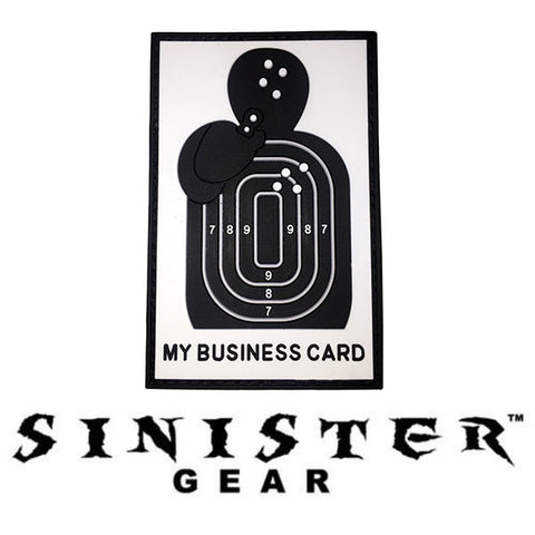 "Sinister Gear ""Business Card"" PVC Patch"