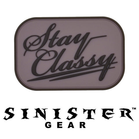 "Sinister Gear ""Classy"" PVC Patch - Pink"