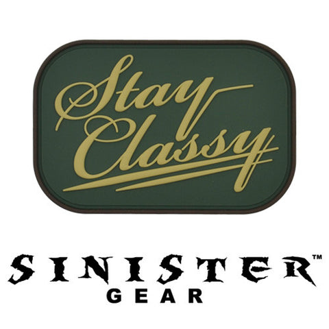 "Sinister Gear ""Classy"" PVC Patch - Arid"