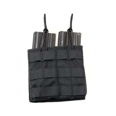 BLACK MOLLE Double M4\M16 Magazine Pouch