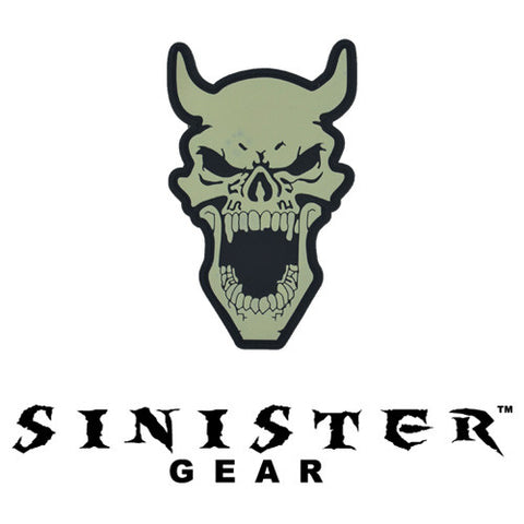 "Sinister Gear ""Devil"" PVC Patch - Bone (Glows in the Dark)"