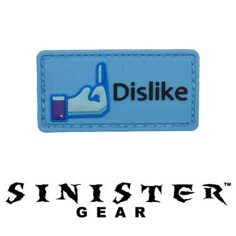 "Sinister Gear ""Dislike"" PVC Patch - Color"