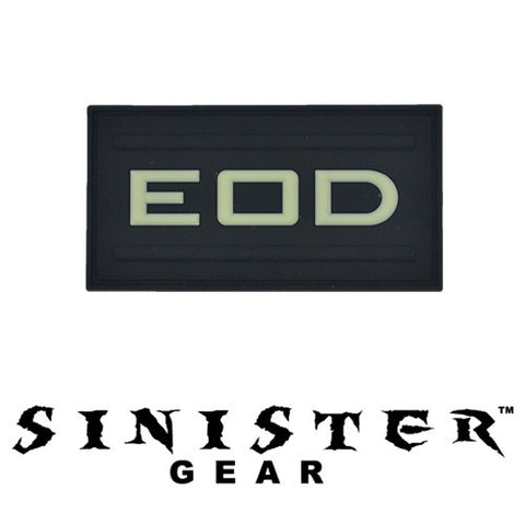 "Sinister Gear ""EOD"" PVC Patch - SWAT (Glows in the Dark)"