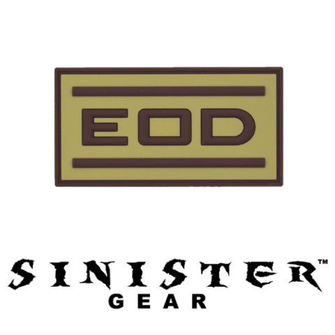 "Sinister Gear ""EOD"" PVC Patch - Tan"