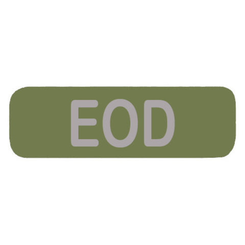EOD Patch with round corners Large (OLIVE DRAB)