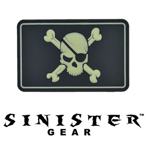 "Sinister Gear ""Eyepatch"" PVC Patch - SWAT (Glows in the Dark)"