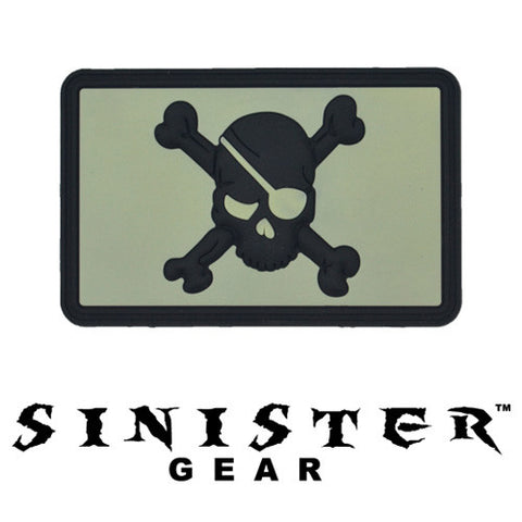 "Sinister Gear ""Eyepatch"" PVC Patch - TAWS (Glows in the Dark)"