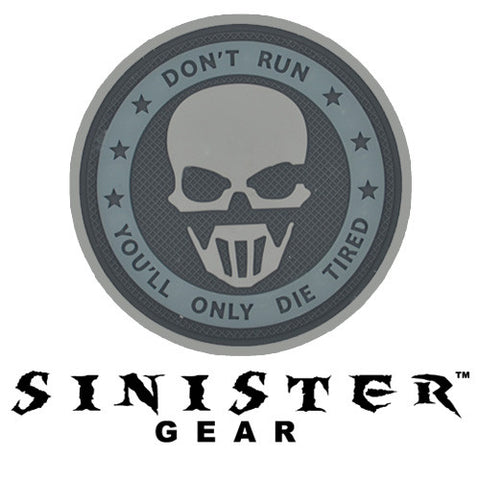 "Sinister Gear ""GRAW"" PVC Patch - Grey"