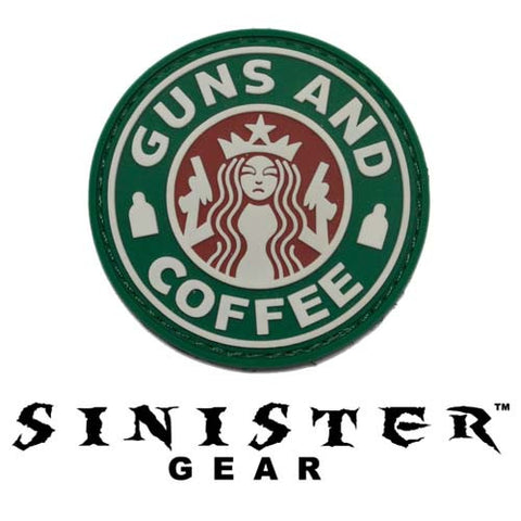 "Sinister Gear ""Guns and Coffee (Beer)"" PVC Patch - Color"