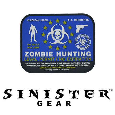 "Sinister Gear ""Hunting Permit"" PVC Patch - Color"