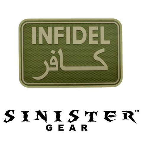 "Sinister Gear ""Infidel"" PVC Patch - OD"