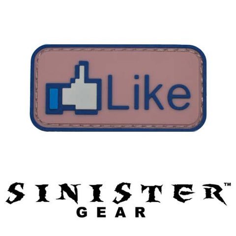 "Sinister Gear ""Like"" PVC Patch - Color"