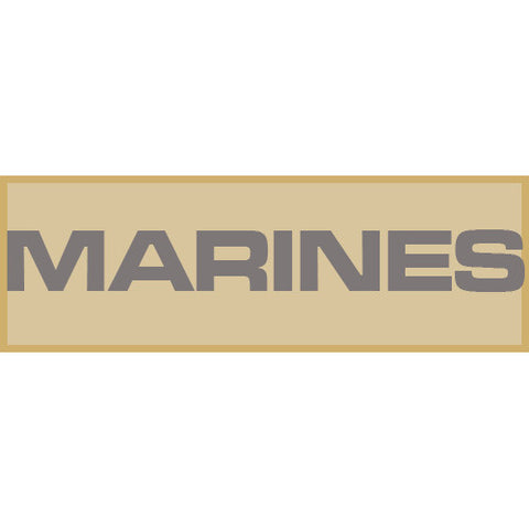Marines Patch Large (Tan)
