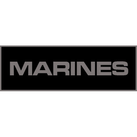 Marines Patch Large (Black)
