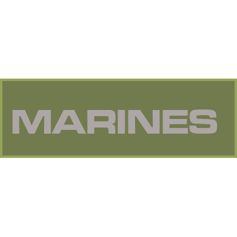 Marines Patch Large (Olive Drab)